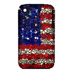 American Flag Mosaic Apple Iphone 3g/3gs Hardshell Case (pc+silicone) by bloomingvinedesign