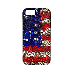 American Flag Mosaic Apple Iphone 5 Classic Hardshell Case (pc+silicone) by bloomingvinedesign