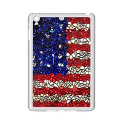 American Flag Mosaic Apple Ipad Mini 2 Case (white) by bloomingvinedesign