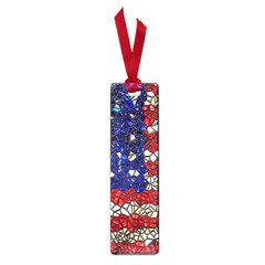 American Flag Mosaic Small Bookmark by bloomingvinedesign