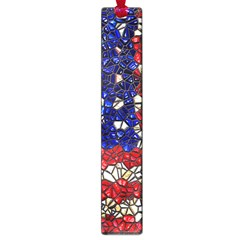 American Flag Mosaic Large Bookmark by bloomingvinedesign