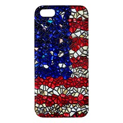 American Flag Mosaic Apple Iphone 5 Premium Hardshell Case by bloomingvinedesign