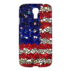 American Flag Mosaic Samsung Galaxy S4 I9500/i9505 Hardshell Case by bloomingvinedesign