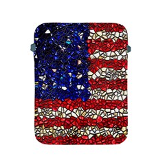 American Flag Mosaic Apple Ipad Protective Sleeve by bloomingvinedesign