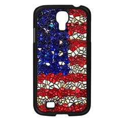 American Flag Mosaic Samsung Galaxy S4 I9500/ I9505 Case (black) by bloomingvinedesign