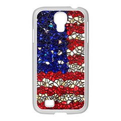 American Flag Mosaic Samsung Galaxy S4 I9500/ I9505 Case (white) by bloomingvinedesign