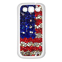 American Flag Mosaic Samsung Galaxy S3 Back Case (white) by bloomingvinedesign