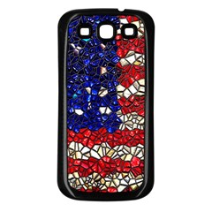 American Flag Mosaic Samsung Galaxy S3 Back Case (black) by bloomingvinedesign