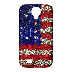 American Flag Mosaic Samsung Galaxy S4 Classic Hardshell Case (pc+silicone) by bloomingvinedesign