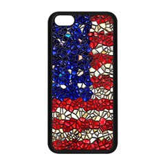 American Flag Mosaic Apple Iphone 5c Seamless Case (black) by bloomingvinedesign