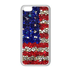 American Flag Mosaic Apple Iphone 5c Seamless Case (white) by bloomingvinedesign