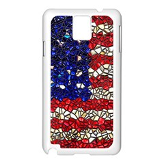 American Flag Mosaic Samsung Galaxy Note 3 N9005 Case (white) by bloomingvinedesign