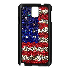 American Flag Mosaic Samsung Galaxy Note 3 N9005 Case (black) by bloomingvinedesign