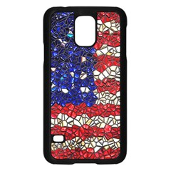 American Flag Mosaic Samsung Galaxy S5 Case (black) by bloomingvinedesign