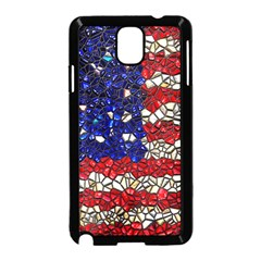 American Flag Mosaic Samsung Galaxy Note 3 Neo Hardshell Case (black) by bloomingvinedesign