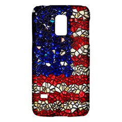 American Flag Mosaic Samsung Galaxy S5 Mini Hardshell Case  by bloomingvinedesign