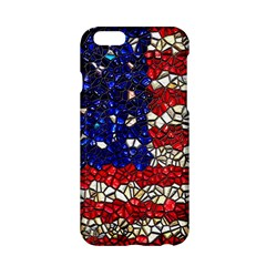 American Flag Mosaic Apple Iphone 6 Hardshell Case by bloomingvinedesign