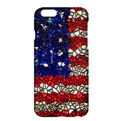American Flag Mosaic Apple Iphone 6 Plus Hardshell Case by bloomingvinedesign