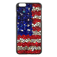American Flag Mosaic Apple Iphone 6 Plus Black Enamel Case by bloomingvinedesign