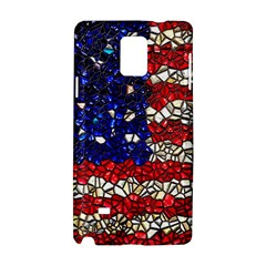 American Flag Mosaic Samsung Galaxy Note 4 Hardshell Case by bloomingvinedesign