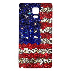 American Flag Mosaic Samsung Note 4 Hardshell Back Case by bloomingvinedesign