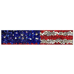 American Flag Mosaic Flano Scarf (Small) by bloomingvinedesign