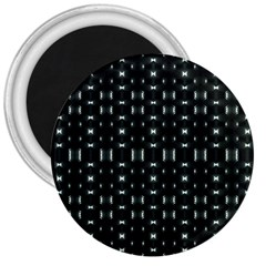Futuristic Dark Hexagonal Grid Pattern Design 3  Button Magnet by dflcprints