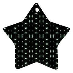 Futuristic Dark Hexagonal Grid Pattern Design Star Ornament by dflcprints