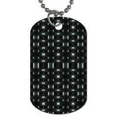 Futuristic Dark Hexagonal Grid Pattern Design Dog Tag (one Sided) by dflcprints