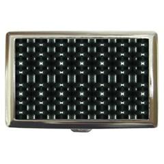 Futuristic Dark Hexagonal Grid Pattern Design Cigarette Money Case by dflcprints