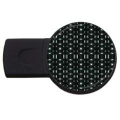 Futuristic Dark Hexagonal Grid Pattern Design 2gb Usb Flash Drive (round) by dflcprints
