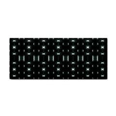 Futuristic Dark Hexagonal Grid Pattern Design Hand Towel by dflcprints