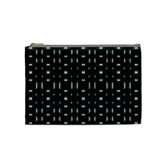 Futuristic Dark Hexagonal Grid Pattern Design Cosmetic Bag (medium) by dflcprints