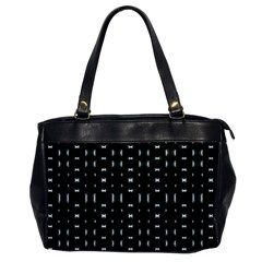 Futuristic Dark Hexagonal Grid Pattern Design Oversize Office Handbag (one Side) by dflcprints