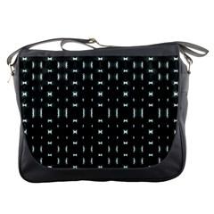 Futuristic Dark Hexagonal Grid Pattern Design Messenger Bag by dflcprints