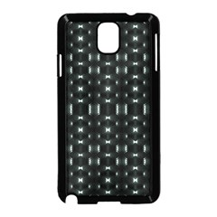 Futuristic Dark Hexagonal Grid Pattern Design Samsung Galaxy Note 3 Neo Hardshell Case (black)