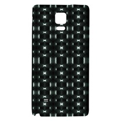 Futuristic Dark Hexagonal Grid Pattern Design Samsung Note 4 Hardshell Back Case by dflcprints