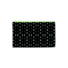 Futuristic Dark Hexagonal Grid Pattern Design Cosmetic Bag (xs) by dflcprints