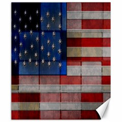 American Flag Quilt Canvas 20  X 24  (unframed) by bloomingvinedesign