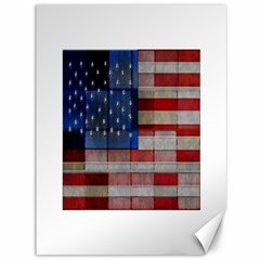 American Flag Quilt Canvas 36  X 48  (unframed) by bloomingvinedesign