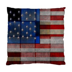 American Flag Quilt Cushion Case (two Sided)  by bloomingvinedesign