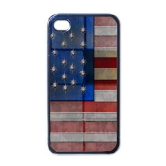 American Flag Quilt Apple Iphone 4 Case (black) by bloomingvinedesign
