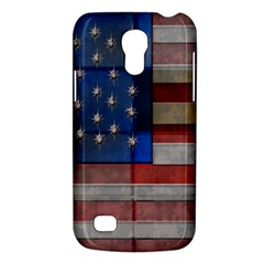 American Flag Quilt Samsung Galaxy S4 Mini (gt I9190) Hardshell Case  by bloomingvinedesign