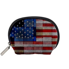 American Flag Quilt Accessory Pouch (small) by bloomingvinedesign