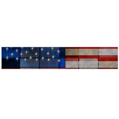 American Flag Quilt Flano Scarf (large)
