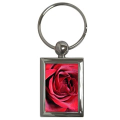 An Open Rose Key Chain (rectangle) by bloomingvinedesign