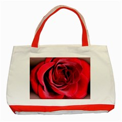 An Open Rose Classic Tote Bag (red) by bloomingvinedesign
