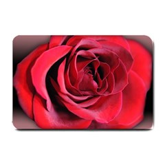 An Open Rose Small Door Mat by bloomingvinedesign