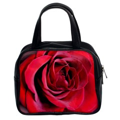 An Open Rose Classic Handbag (two Sides) by bloomingvinedesign