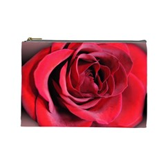 An Open Rose Cosmetic Bag (large) by bloomingvinedesign